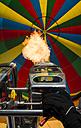 Austria, Salzkammergut, Hot air ballon, gas flame under balloon cover - STC000006