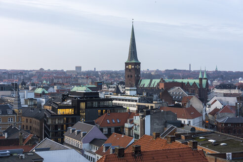 Denmark, Aarhus, view to roofs of city center, view from above - WEF000058