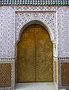 Morocco, Marrakesh-Tensift-El Haouz, Medina, Entrance door to a riad - AMF002173