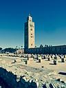 Morocco, Marrakesh-Tensift-El Haouz, Marrakesh, Koutoubia Mosque, Minaret - AMF002187