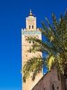Morocco, Marrakesh-Tensift-El Haouz, Marrakesh, Koutoubia Mosque, Minaret - AMF002185
