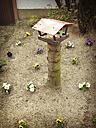 Germany, Oer-Erkenschwick, front yard with birdhouse - FBF000347