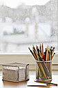 Workplace with pencils and notepad - MELF000006