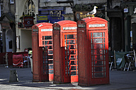 UK, Scotland, Edinburgh, Red telephone booths in street - FDF000038