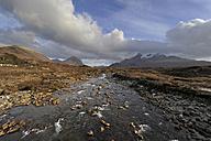 UK, Scotland, Landscape with cloudy sky - FDF000052