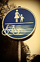 Bicycle leaving sign, composite - HOHF000723