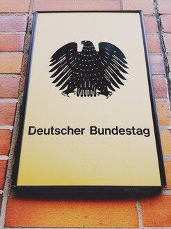 Sign German Bundestag, Berlin, Germany - RIM000228