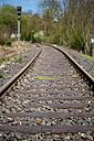 Germany, Rhineland-Palatinate, Hahnstaetten, Rail track - MHF000296