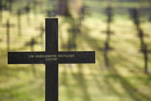 France, Alsace, Cross for a nameless German soldier, Military cemetery - DHL000423