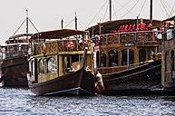 UAE, Dubai, Tourist boats at the creek - THA000289