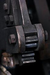 Germany, Bavaria, Josefsthal, metal shears at historic blacksmith's shop, close-up - TCF003935