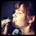 Young Woman eating - HOHF000733