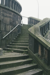 Germany, Hamburg, Staircase to Freihafenelbbruecke - MSF003818