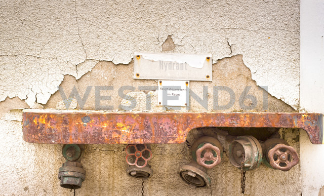Stop valves of an old factory - FCF000115