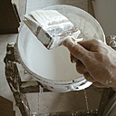 Painting with whitewash paint. - HAWF000151