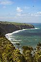 Portugal, Azores, Sao Miguel, Cliff line at Miradouro da Despe-te Que Sua - ONF000509
