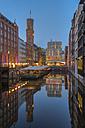 Germany, Hamburg, Bleichenfleet after sunset - RJF000120