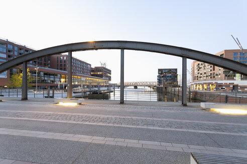 Germany, Hamburg, Osaka Bridge at Magdeburger Hafen - MSF003856
