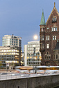 Germany, Hamburg, Old and new buildings in Speicherstadt and Hafencity - MSF003831