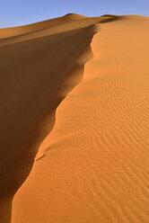 Algeria, Tassili n' Ajjer, Sahara, sand ripples of desert dune - ESF001034
