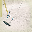 Two empty swing on a playground, La Palma, Spain - MSF003867