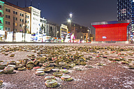 Germany, Hamburg, Hundrets of crown caps on the Spielbudenplatz, next to the Reeperbahn - NKF000096