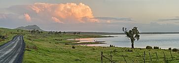 New Zealand, Chatham Island, Evening cloud over Blind Jims Creek - SHF001220