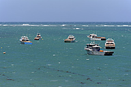 Australia, Western Australia, Lancelin,  fishing boats mooring on the coast - MIZ000480