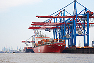 Germany, Hamburg, container harbor - DHL000433