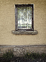 Germany, Baden-Wuerttemberg, near Tuebingen, old window, reflecting birch - LVF001196