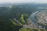 Germany, Rhineland-Palatinate, aerial view of Bernkastel-Kues with Moselle River - PAF000656