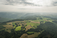 Germany, Rhineland-Palatinate, aerial view of rolling landscape - PAF000639