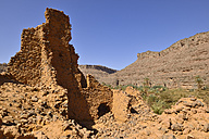 Algeria, Tassili N'Ajjer National Park, Ruin of a former Tuareg chiefs residence in Iherir Canyon - ES001080