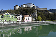 Austria, Tyrol, Kufstein, Fortress above the Inn and the old town - LB000698