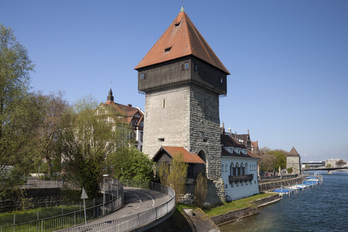 Germany, Baden-Wuerttemberg, Constance, Rheintor tower, Lake Constance - WIF000633