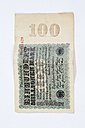 One hundred million German Reichsmark note from the 1920s - CSF021306