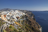 Greece, Cyclades, Santorini, view to Thera and caldera - KRP000519
