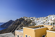Greece, Cyclades, Santorini, view to Thera - KRP000532