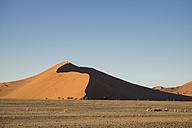 Africa, Namibia, Sossusvlei, Sand dunes at sunset - HLF000480