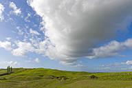 Italy, Tuscany, Province of Siena, Crete Senesi, Landscape and clouds - KLRF000060