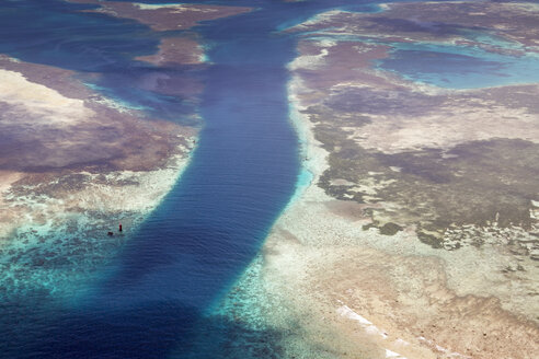 Oceania, Palau, Pacific Ocean, Coral reef and German Channel, canal - JWAF000042