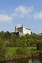 Germany, Bavaria, Upper Bavaria, Eichstaett, Altmuehl valley, Willibaldsburg, Castle Saint Willibald above the river Altmuehl - LB000749