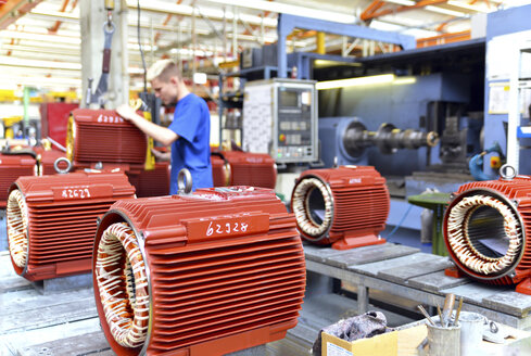 Electric motor production in a factory - SCH000210