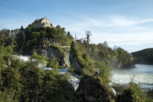 Switzerland, Schaffhausen, Rhine falls with Laufen Castle - ELF000989