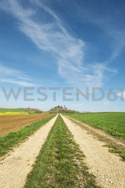 Germany, Baden Wuerttemberg, Hegau landscape, Field path to Maegdeberg - ELF000988