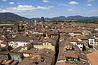 Italy, Tuscany, Province of Lucca, Lucca, Cityscape, View from Torre Guinigi - YFF000137
