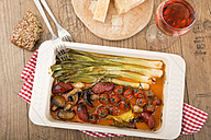 Mediterranean low carb dish with Chorizo sausage and vegetables - CSTF000343