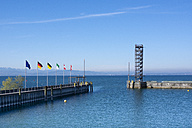 Germany, Baden-Wuerttemberg, Friedrichshafen, viewing tower at port entrance - WIF000647