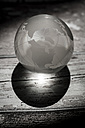 Globe glass ball on wooden ground - SAR000599