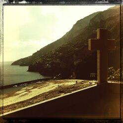 Campania, Amalfi Coast, Monumental Cemetery, Cross, Italy - STE000084